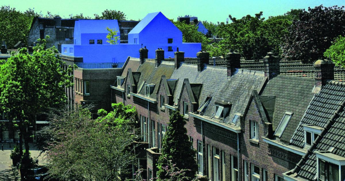 Blaue Farbe Und Blaues Licht In Der Architektur Beliebte
