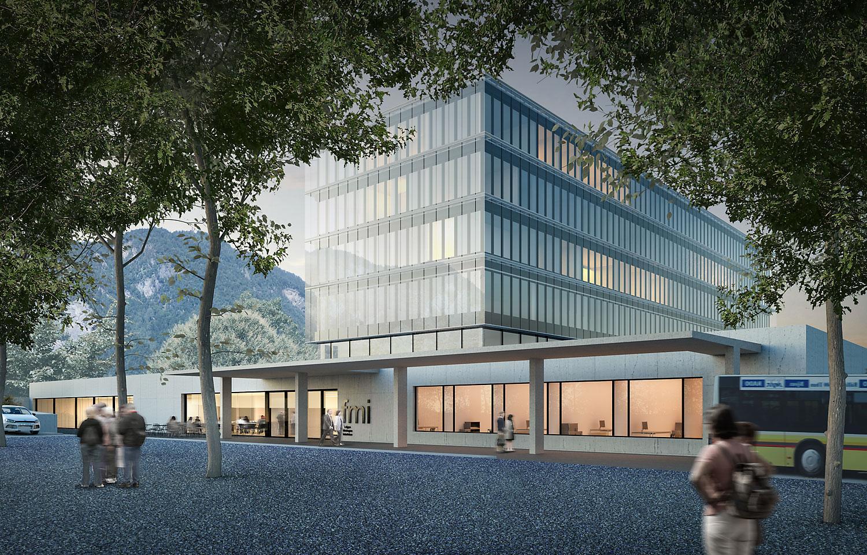 Neubau Haus E, Spital Interlaken, Unterseen, Brügger Architekten, Selenit