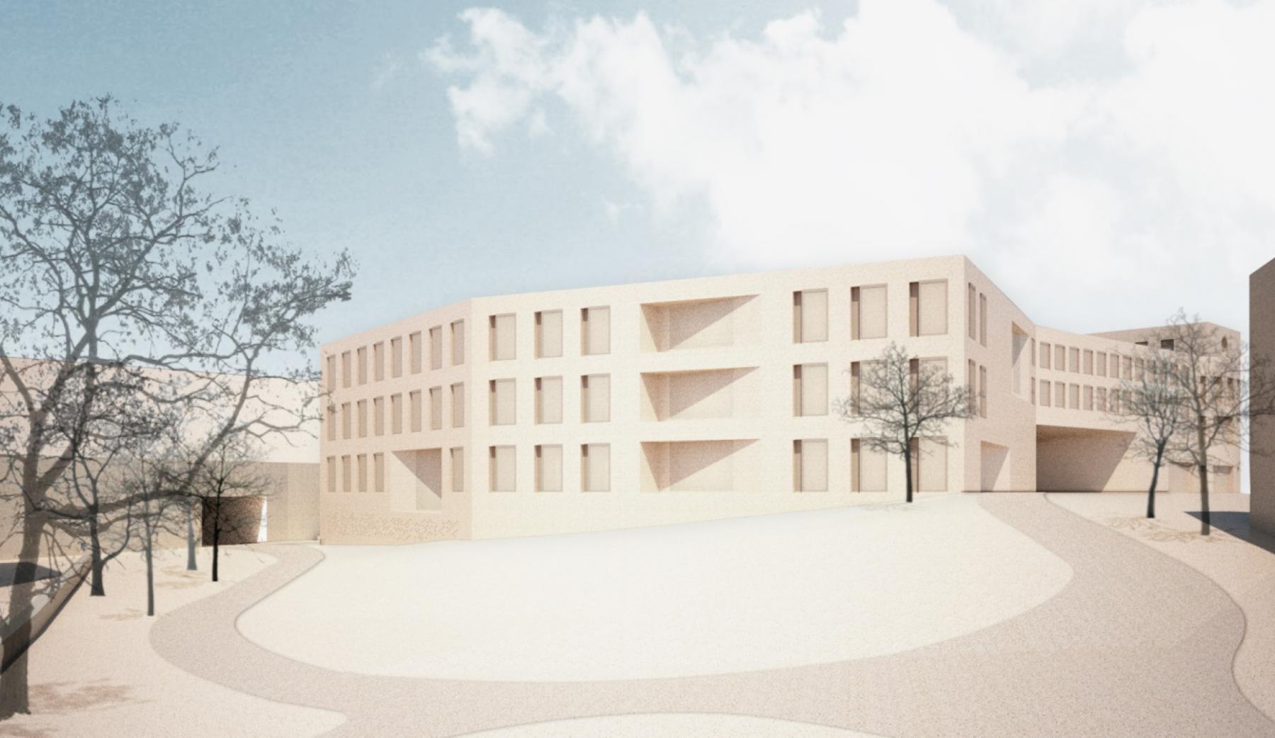 Neubau Malagarain, Bezirksgericht + Kantonspolizeiposten Lenzburg, Herzog Architekten, LOZENGE