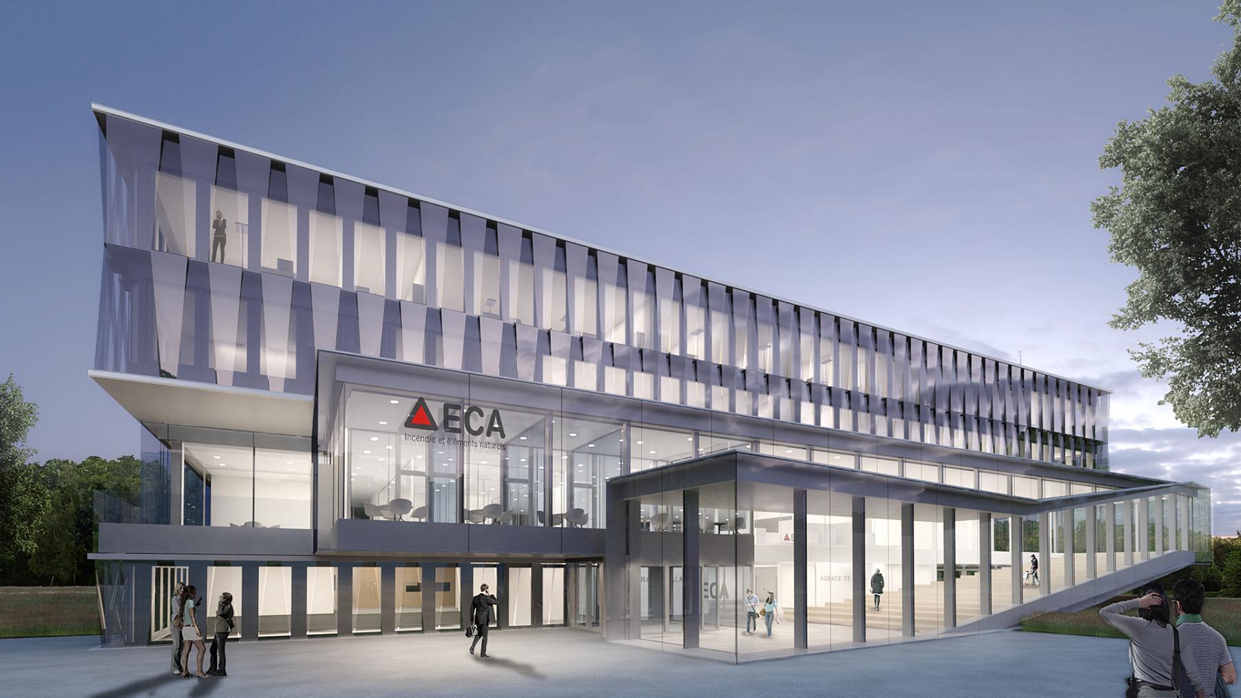 Nouveau siège administratif de l'ECA, site de La Grangette, Lausanne, Architram architecture et urbanisme, POUPEERUSSE