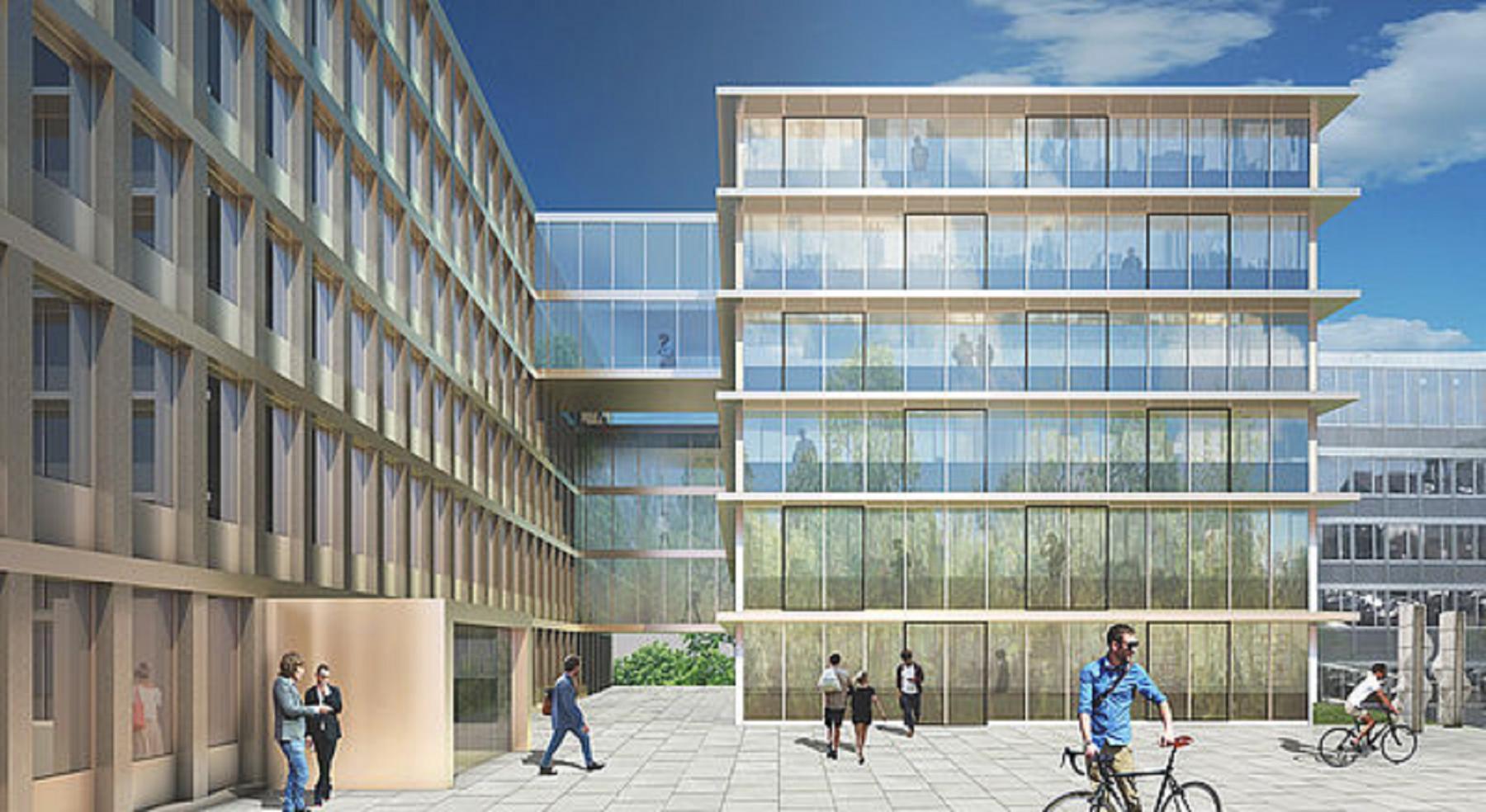 Agrandissement du bâtiment de l'ECAS, Givisiez, REY + BASSO RICCI architectes, PASSERELLE