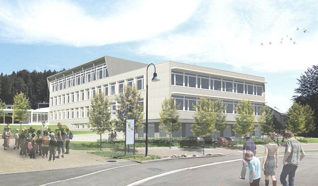 Erweiterung & Sanierung Sekundarschule Bächelacker, Eschlikon TG, S2 / Stucky Schneebeli / Architekten, SCHOOL WITH A VIEW