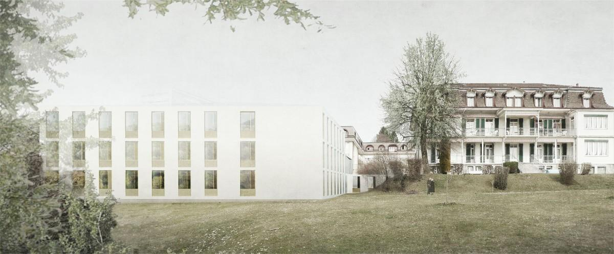 Construction d'un nouveau bâtiment, établissement médico-social Fondation La Rozavère, Lausanne, Juan Socas architecte, ZEN