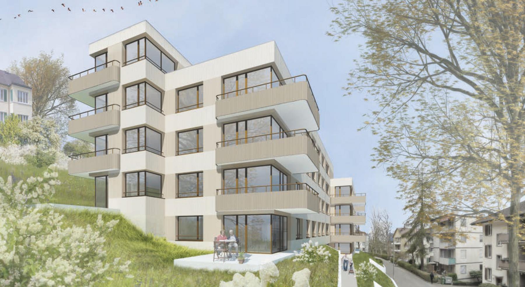 Ersatzneubau Wohnen Langgasse 69/71/73 in Winterthur, Andreas Zimmermann Architekten, carambar
