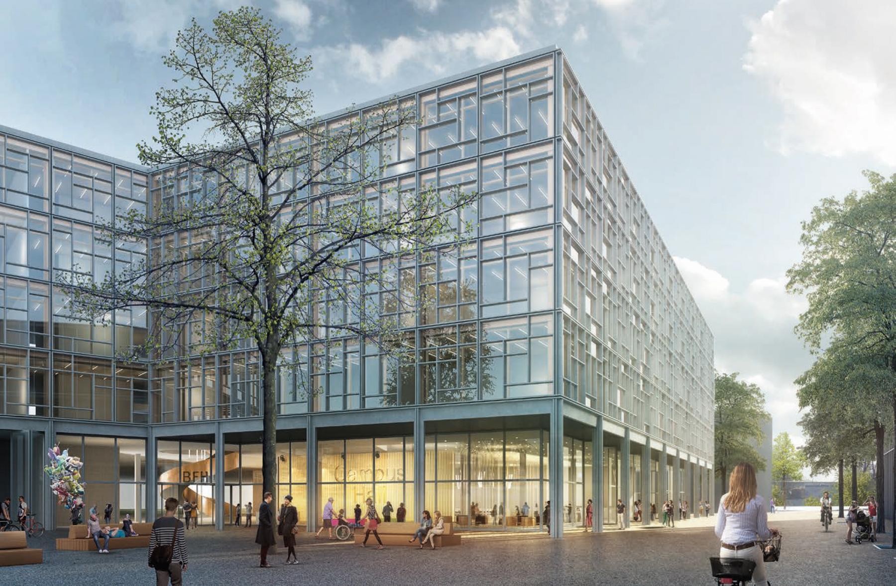 Neubau Campus (Technik und Informatik, Architektur, Holz und Bau) Berner Fachhochschule BFH, Biel/Bienne, pool Architekten, Trèfle