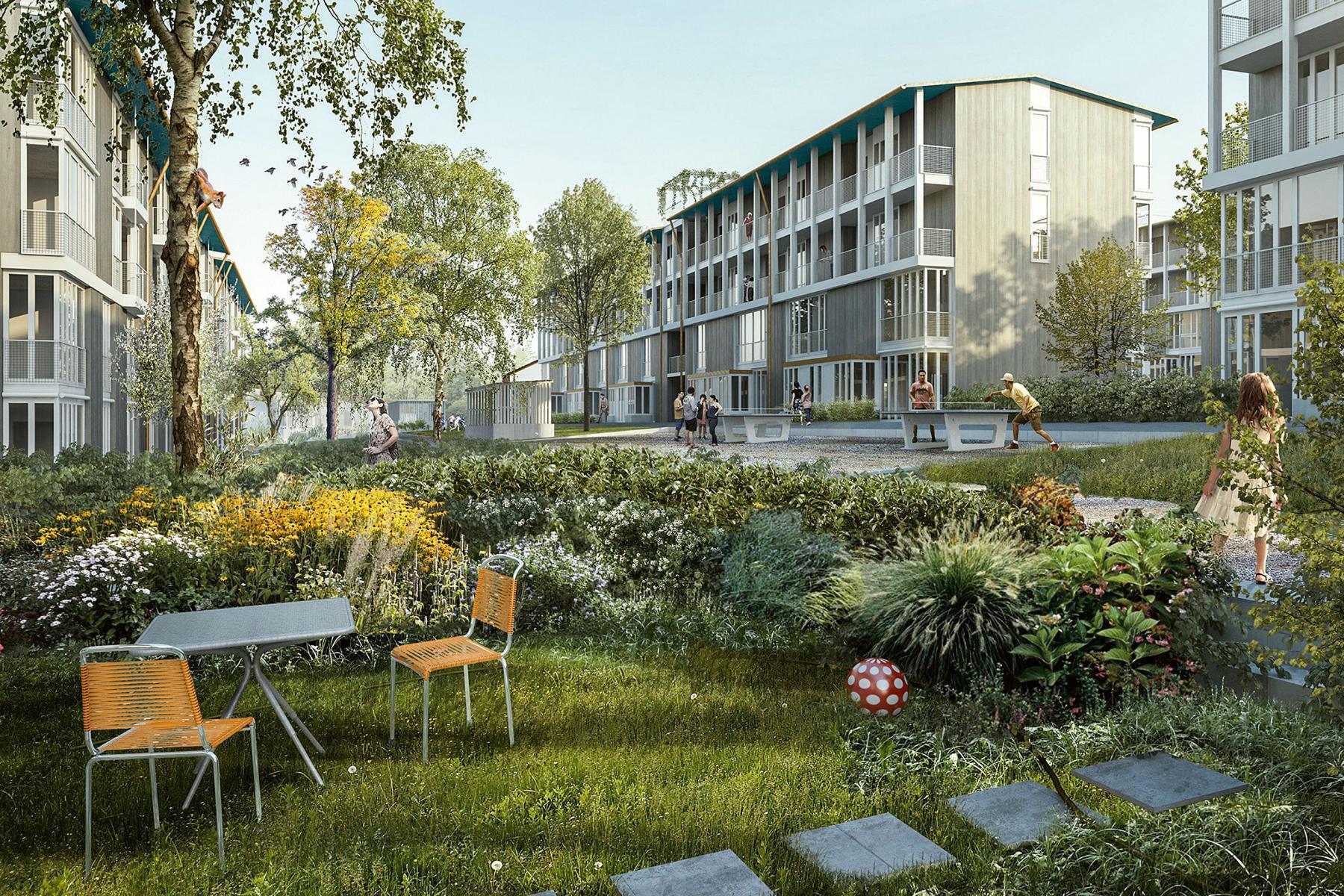 «Im Friesenberg» von Edelaar Mosayebi Inderbitzin Architekten rückt städtebaulich nur minimal vom Fussabdruck der bestehenden Siedlung ab.
