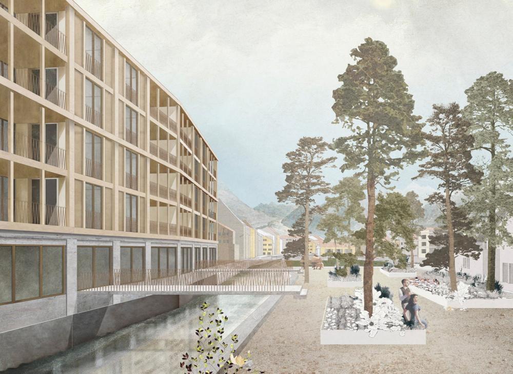 Arealentwicklung «Stedtli», «RUAG-Areal», Unterseen, ARGE Lars Mischkulnig Architekt & UNARC, Toris et Dômes