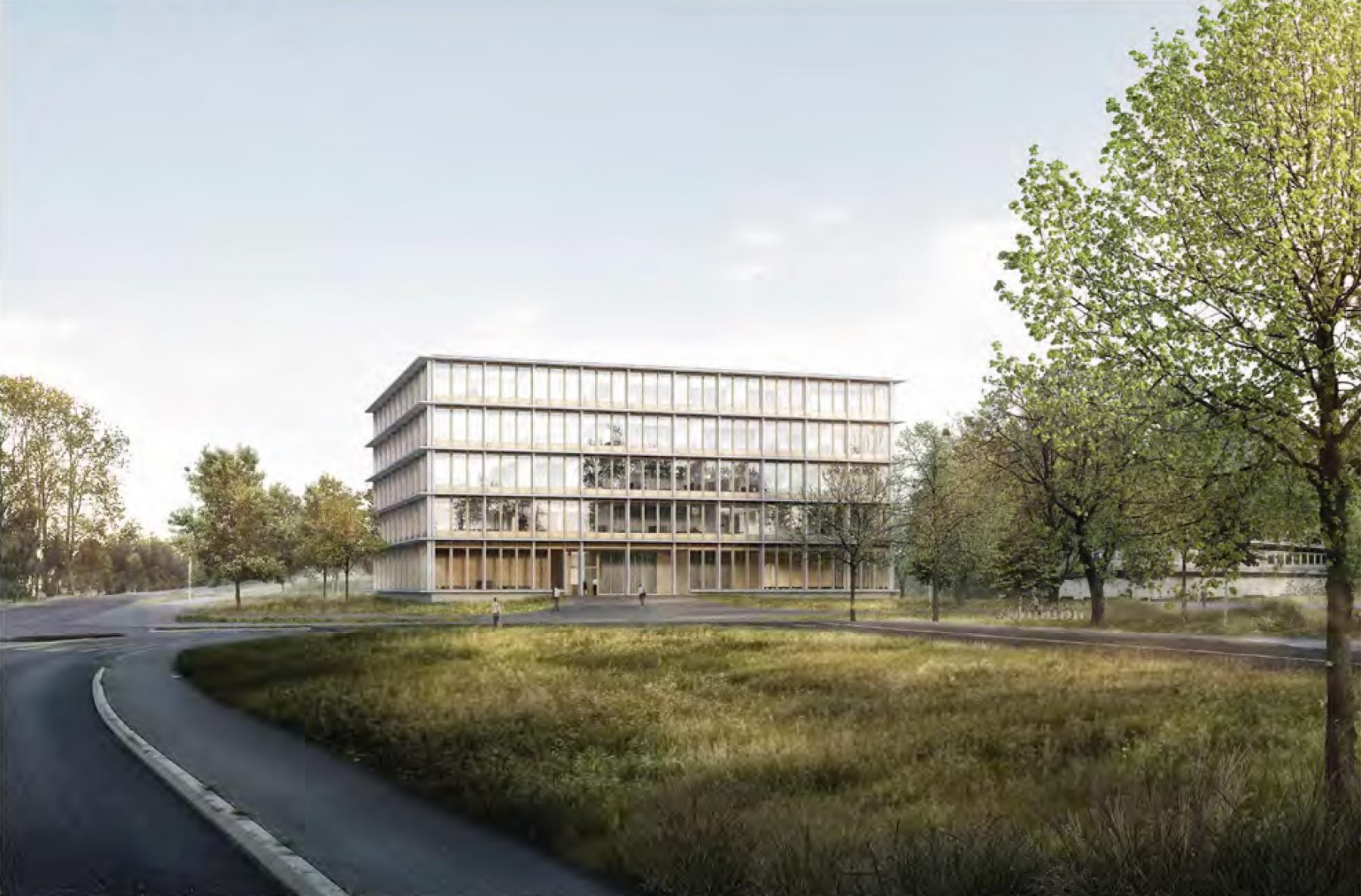 «Cluster sport international» (Synathlon), Université de Lausanne, Ecublens, KARAMUK * KUO ARCHITEKTEN, LA RUCHE