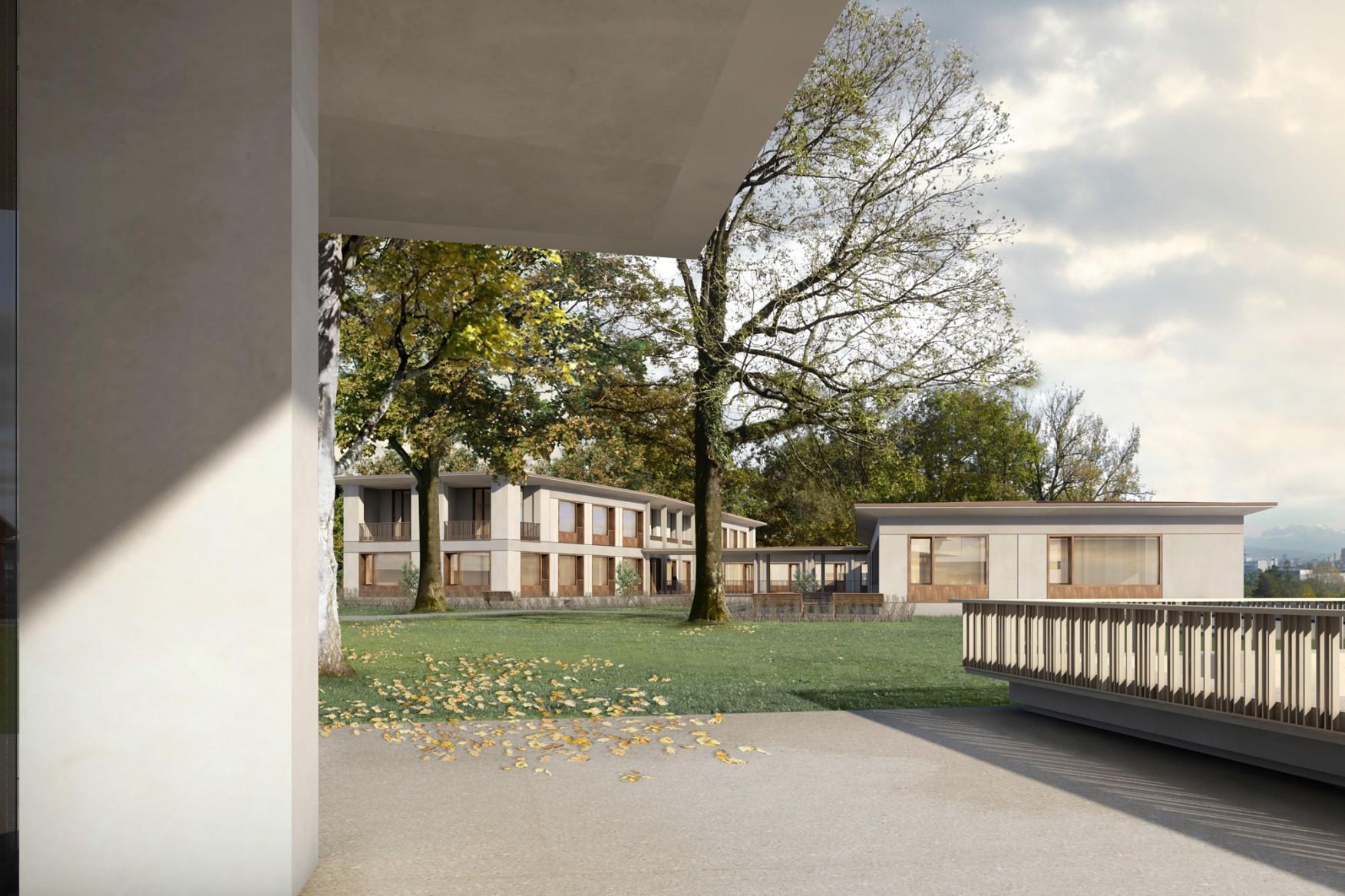 Neubau Haus der Demenz, Pflegezentrum Bombach, Zürich-Höngg, ARGE Joos & Mathys Architekten | Schmid Schärer Architekten, ERIKA