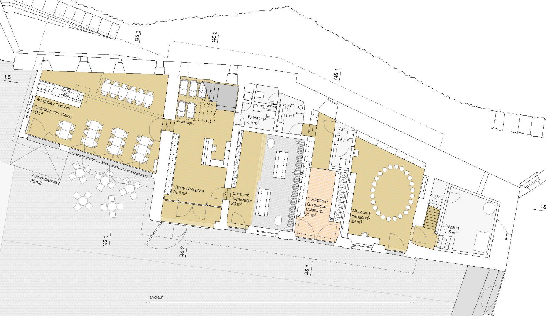 Schloss Kyburg, Nutzungsoptimierung und Umgestaltung Ökonomiegebäude, Ruggero Tropeano Architekten