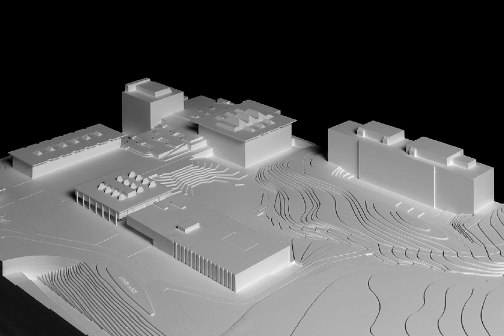 Staatsarchiv des Kantons Zürich, Bau 3, architektick, elastique