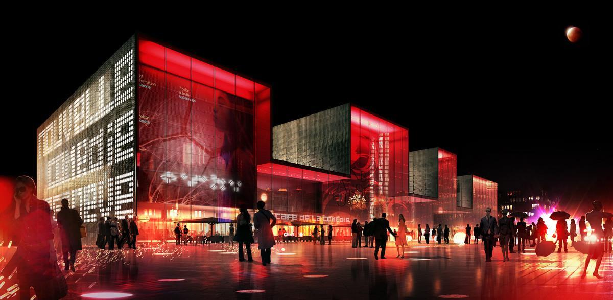 Théâtre Nouvelle Comédie, Genève, GRAVIER MARTIN CAMARA, SKYLINE