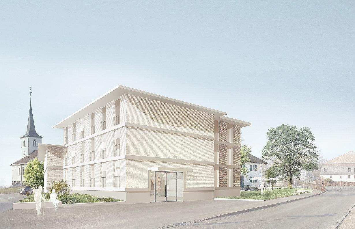 Établissement médico-social EMS Foyer St-Joseph, Sâles, Dreier Frenzel / Mullerarchitecte, Mots Croisés