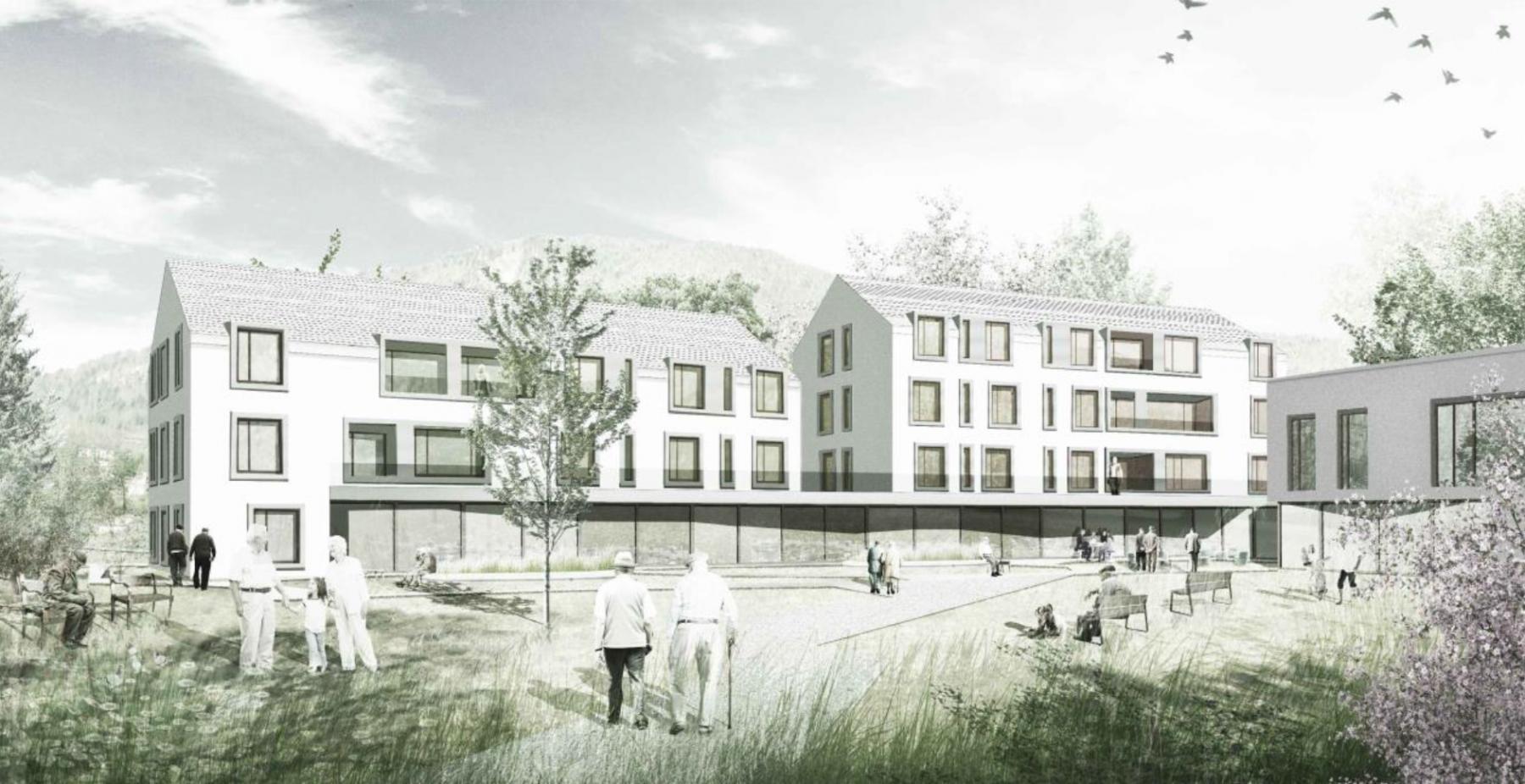 Extension de l'établissement médico-social EMS HOME SALEM à Saint-Légier - La Chiésaz, Groupement d'architectes Cian Nicholl et Philippe Dubost, les Pleiaux