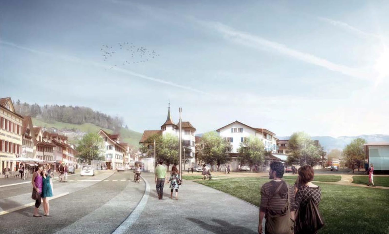 Gestaltung Zentrumsbereich und Ortsdurchfahrt Schmerikon, Team Andreas Geser Landschaftsarchitekten, EGLIFISCH