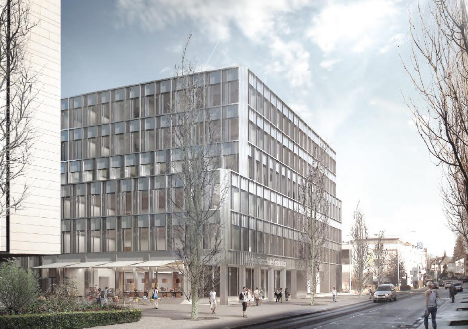 Neubau Höhere Fachschule Gesundheit Zentralschweiz HFGZ, Luzern, Metron Architektur, Florence