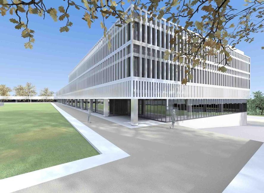 Neubau Stadthaus mit Tiefgarage und Neugestaltung Festwiese, Kreuzlingen, Niggli + Zbinden Architekten, SCHLUSSSTEIN