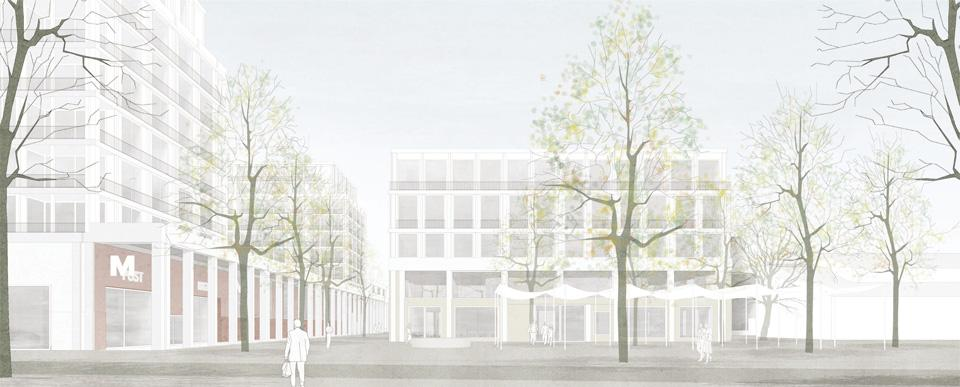 Neues Zentrum Kirchacker, Neuhausen am Rheinfall, Caruso St John Architects / antón & ghiggi landschaft architektur