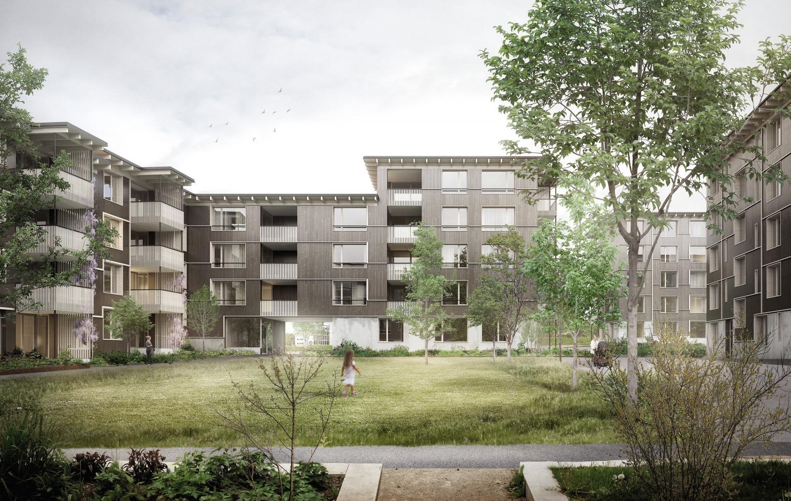 Ersatzneubau Wohnsiedlung Klosterbrühl, Wettingen, ARGE Galli Rudolf Architekten & Wülser Bechtel Architekten, Gartengeschichten