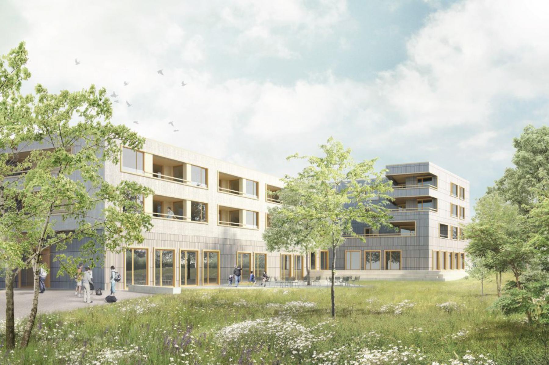 Neubau Kirchgemeindehaus, Bibliothek mit Wohnungen, Wallisellen, ADP Architekten, MISSING LINK