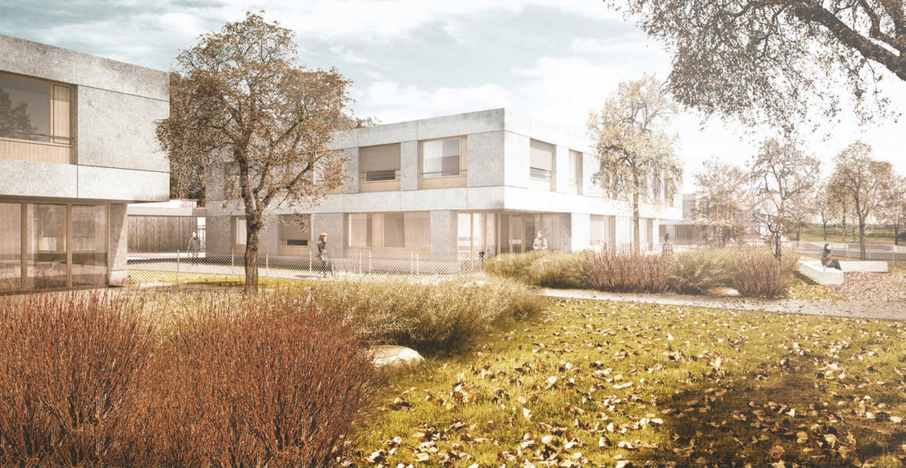 Neubau Wohngruppen Ilgenhalde (Schule, Internat, Therapie), Fehraltorf, Stutz Bolt Partner Architekten, Die drei Räuber