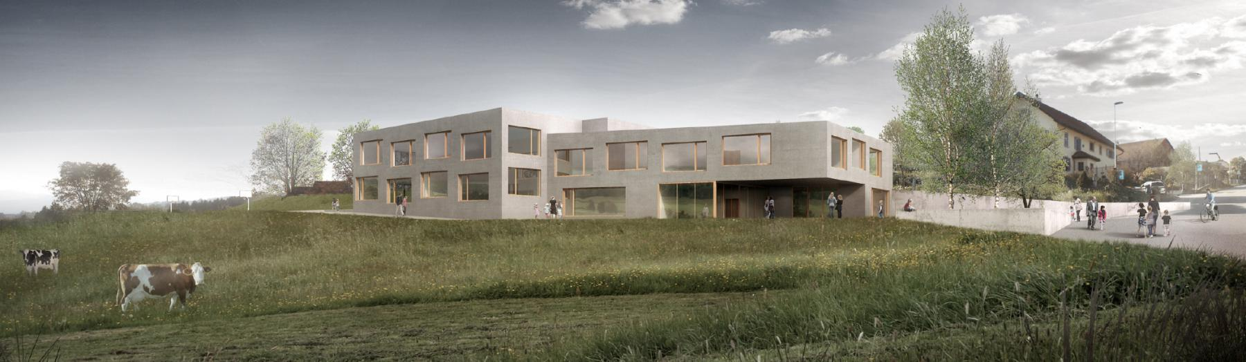Nouvelle école, Sorens, ATELIER PULVER ARCHITECTES, farandole