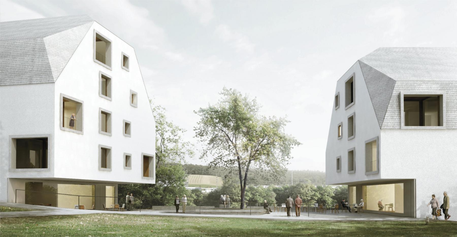 Chanteclair, logements adaptés aux personnes à mobilité réduite, Givisiez, Durisch + Nolli Architetti, ENSEMBLE
