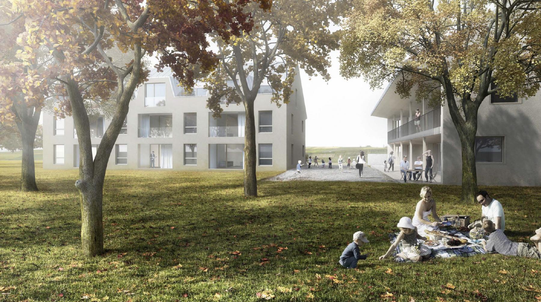 Construction de deux immeubles de logements communaux, Soral, Widmann architectes et Marchitecture / Ingeni, KABOUCHA