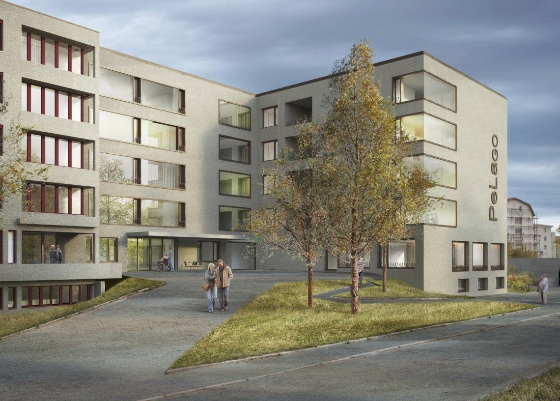 Erweiterung Pflegeheim der Region Rorschach (PeLago), Rorschacherberg, GÄUMANN LÜDI VON DER ROPP Architekten, espada