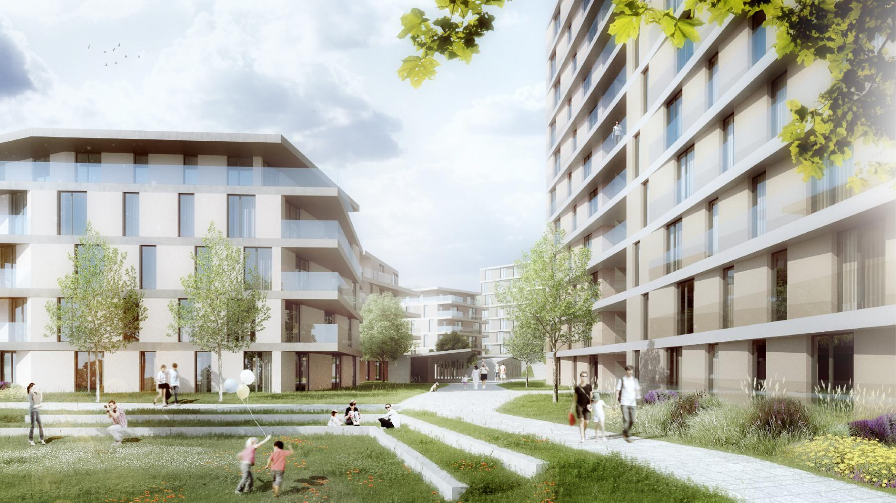 Construction de logements dans le quartier des Fiches Nord, Lot 11, PPA Bérée 2, Lausanne, Jean-Baptiste Ferrari & Associés, Maiougi