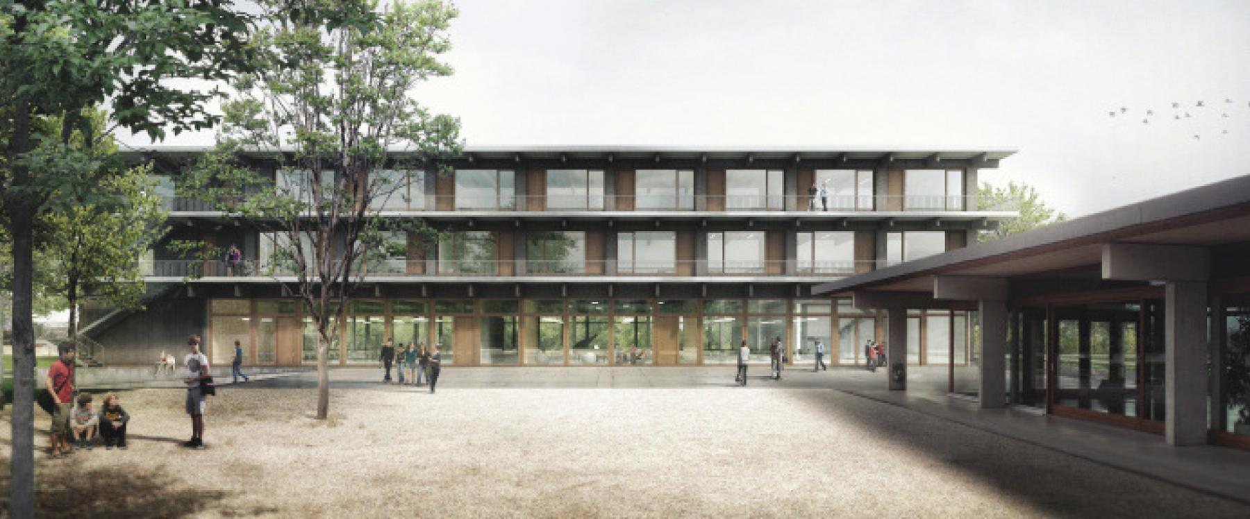 Erweiterung Oberstufenschulhaus Weiden, Rapperswil-Jona, Karamuk Kuo Architekten, INIGO