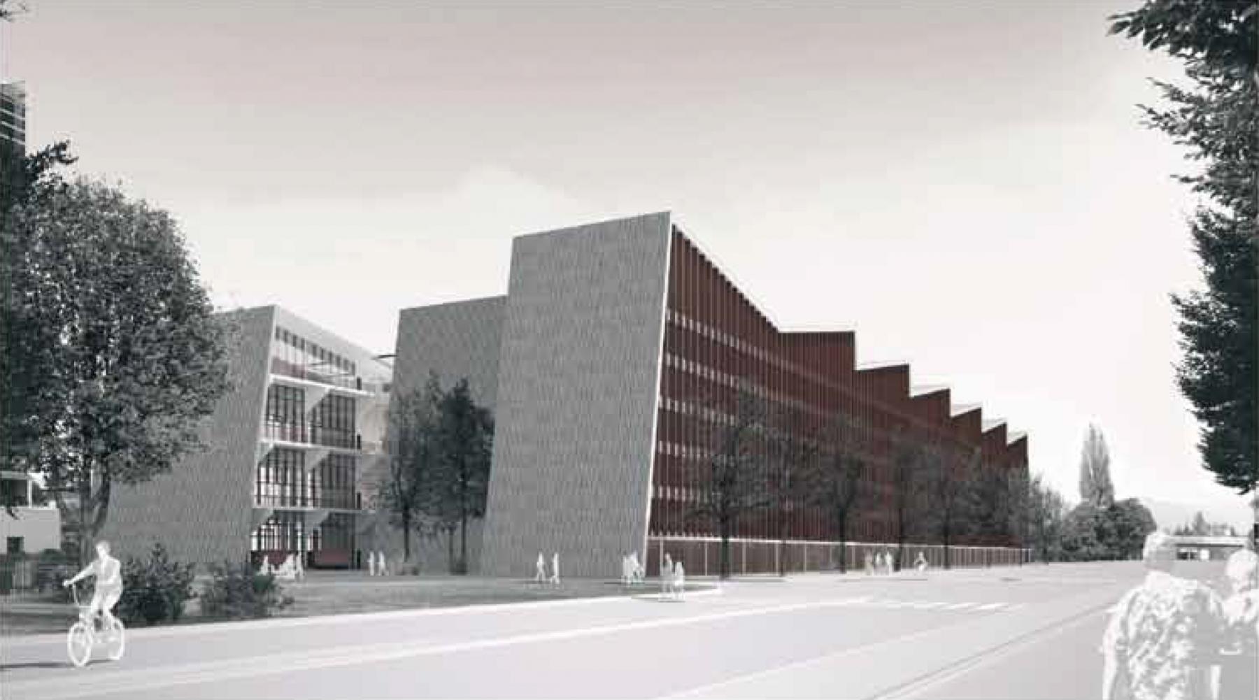 Hôtel industriel d'entreprises, Petit-Lancy, LRS Architectes, DENTS-DE-LOUP