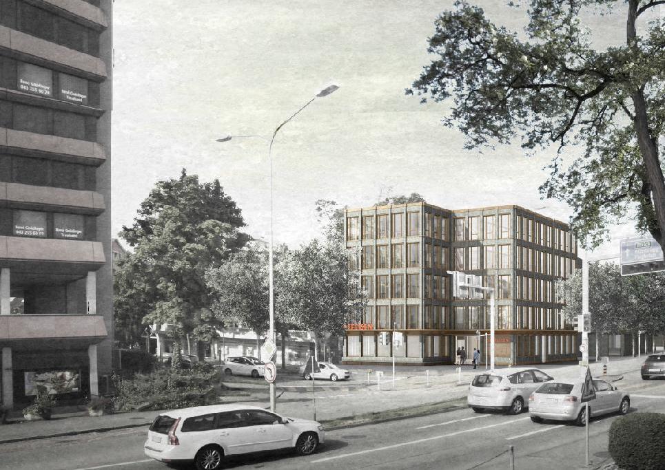 Neubau Geschäftshaus Raiffeisenbank, Kloten, Fiechter & Salzmann Architekten, PROPELLER