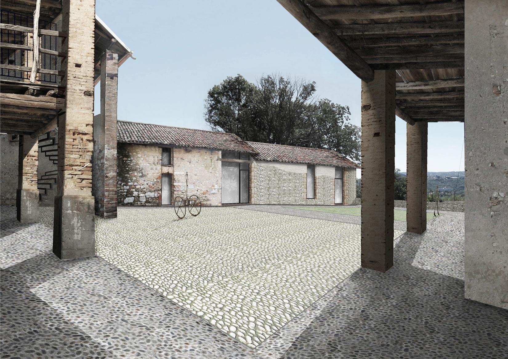 Restauro della masseria di Vigino, Castel San Pietro, studio arch. N. Baserga e C. Mozzetti, PANE E VINO
