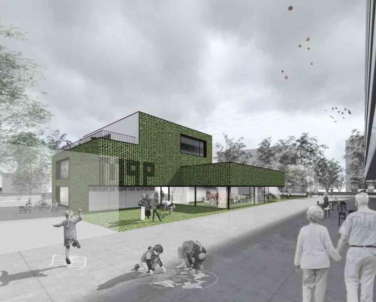 Construction de la Maison de quartier du Plateau, Lancy, BCRarchitectes, TRAIT D'UNION