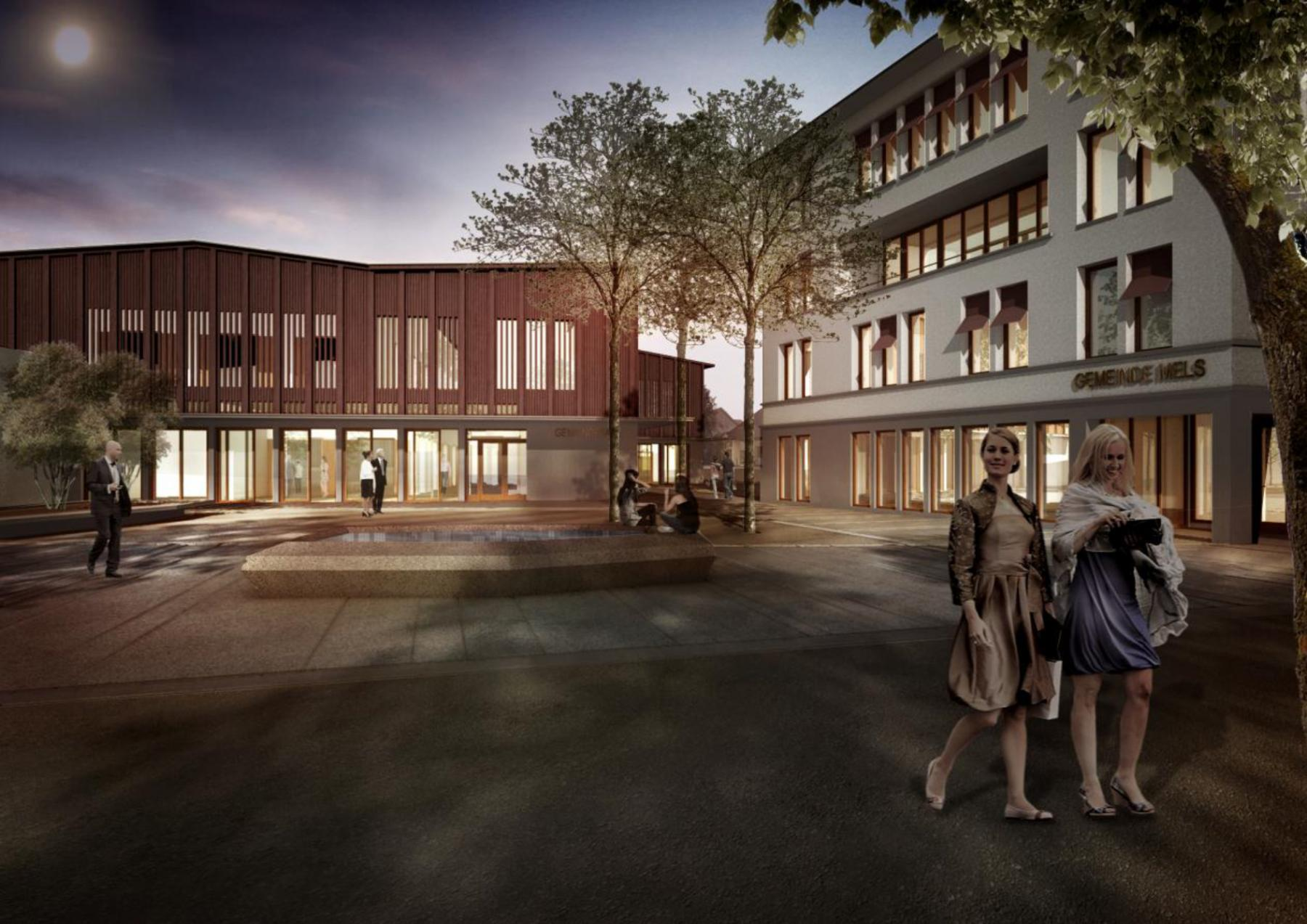 Gemeinde- und Kulturzentrum Mels, Raumfindung Architekten, pinot noir