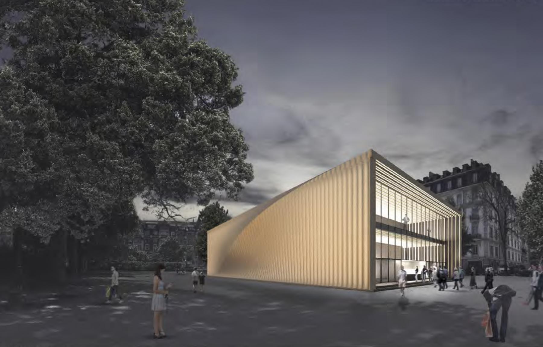 Pavillon de la danse, place Charles-Sturm, Genève, ON architecture, BOMBATWIST