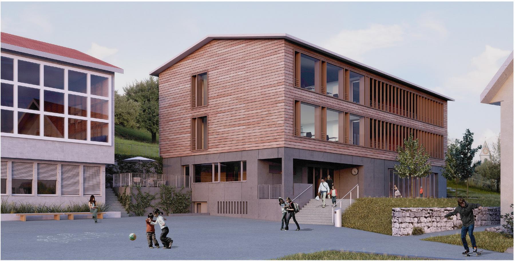 Erweiterung, Sanierung und Umbau Schulanlage Rifferswil, team 4 Architekten, benjamin