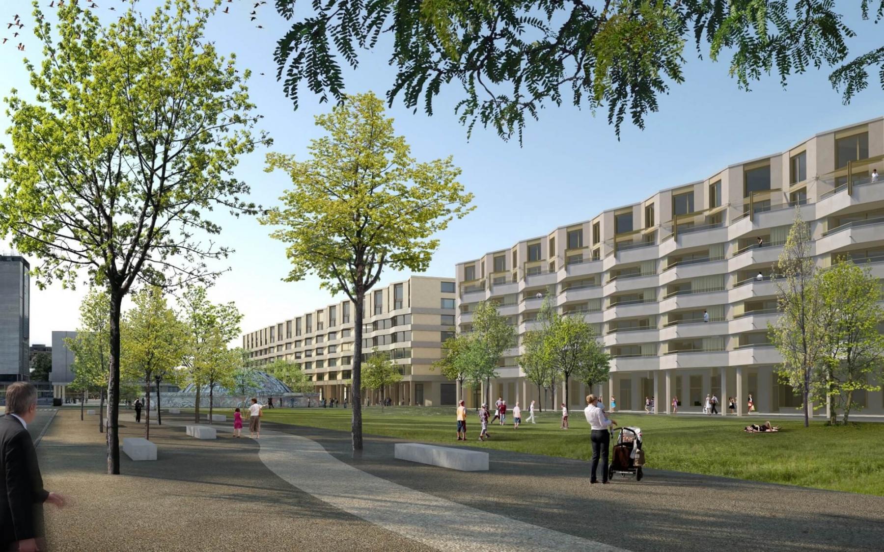 Esplanade Nord Gaswerkareal, Biel, Graber Pulver Architekten, Papillon