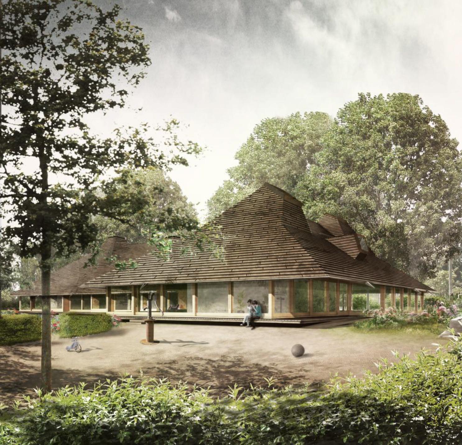 Neubau Doppelkindergarten mit Tagesstrukturen, Paradiesstrasse, Riehen, Miller & Maranta