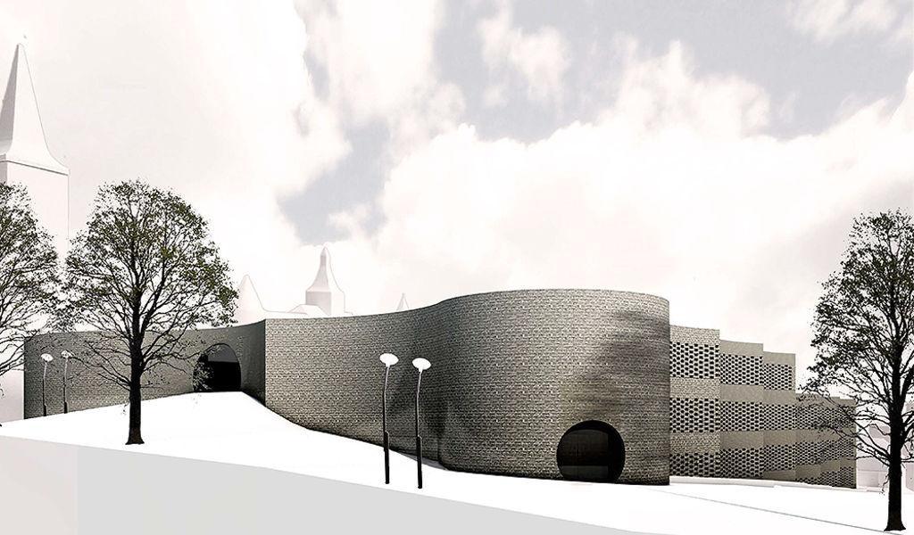 Parkhaus mit Gestaltung der Umgebung, Areal des früheren Viehmarktes, Murten, Baumann Lukas Architektur, Bless Hess Bauingenieure, PRINZ VON TARENT
