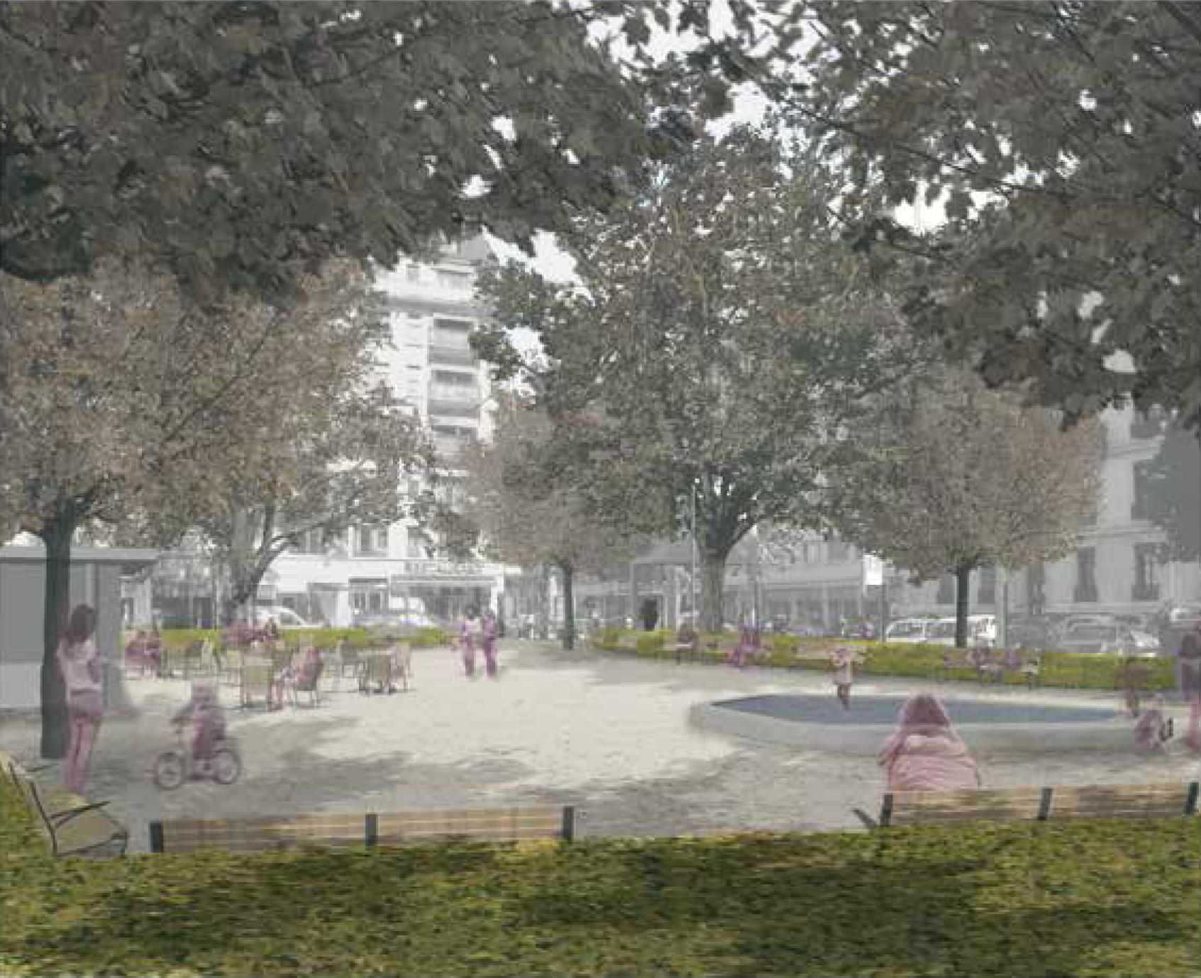 Concours d'aménagement d'espaces publics, place des augustins, Genève