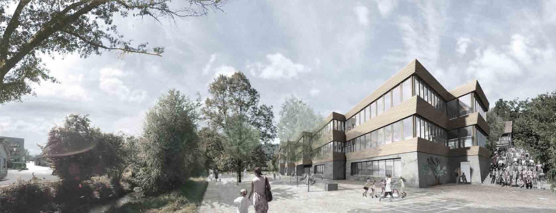 Neubau Schulhaus Haldenacher 1.Rang «Taliesin»