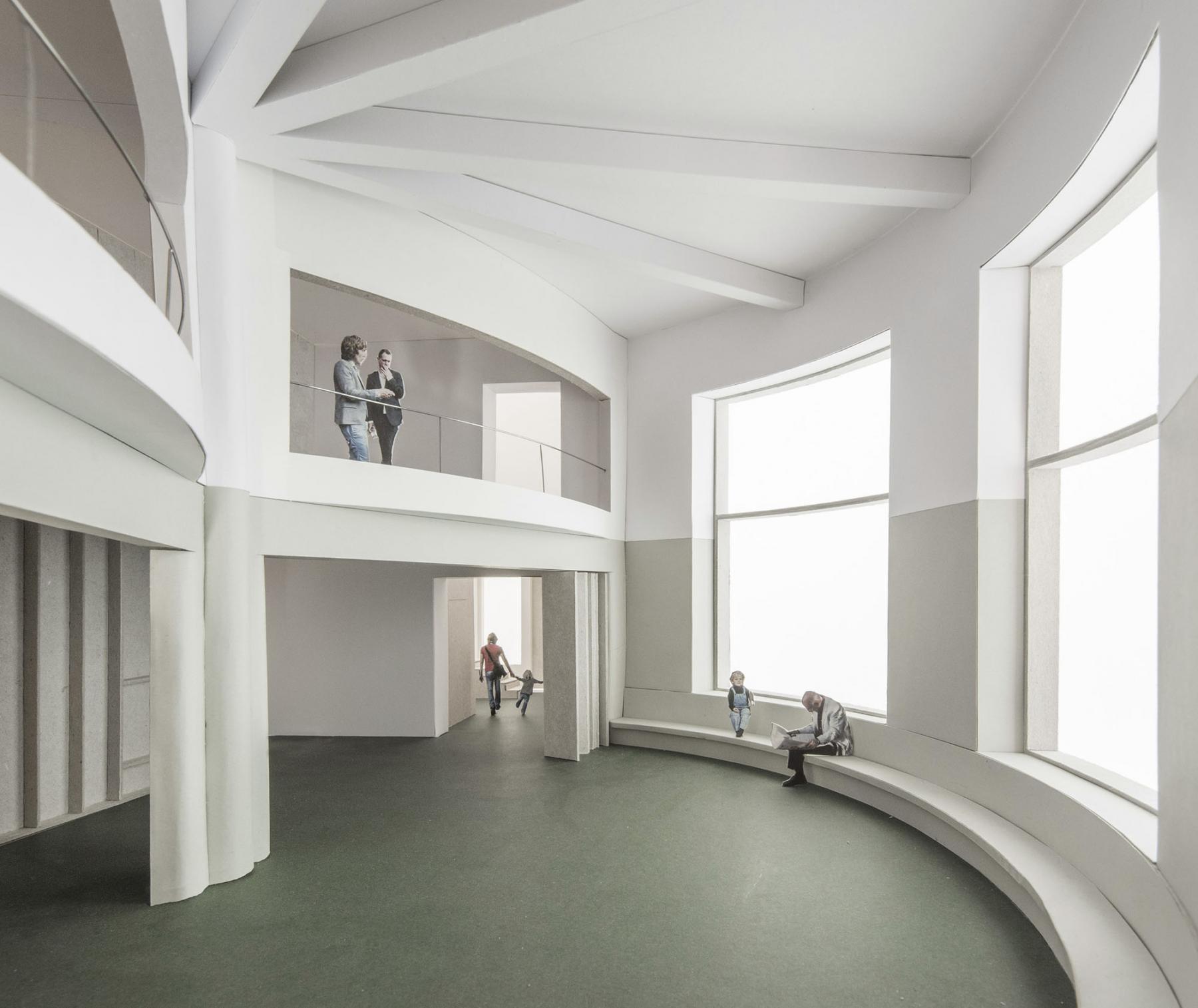 Réhabilitation d'un ancien manège en bâtiment d'équipements publics, Genève, ESTAR armental ciurlo walker arquitectos, SUSPENDU
