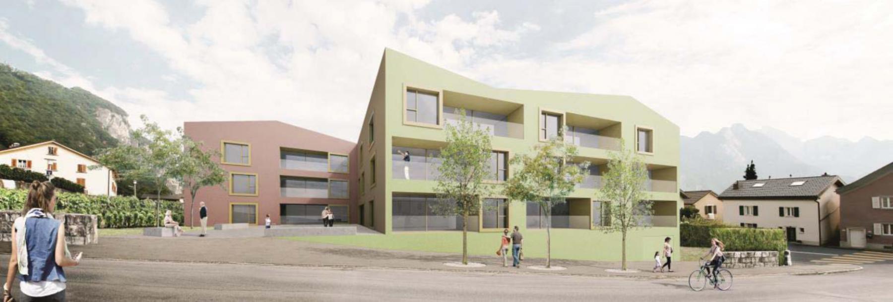 Construction d'une structure d'appartements protégés à Vouvry - Bonnard & Woeffray