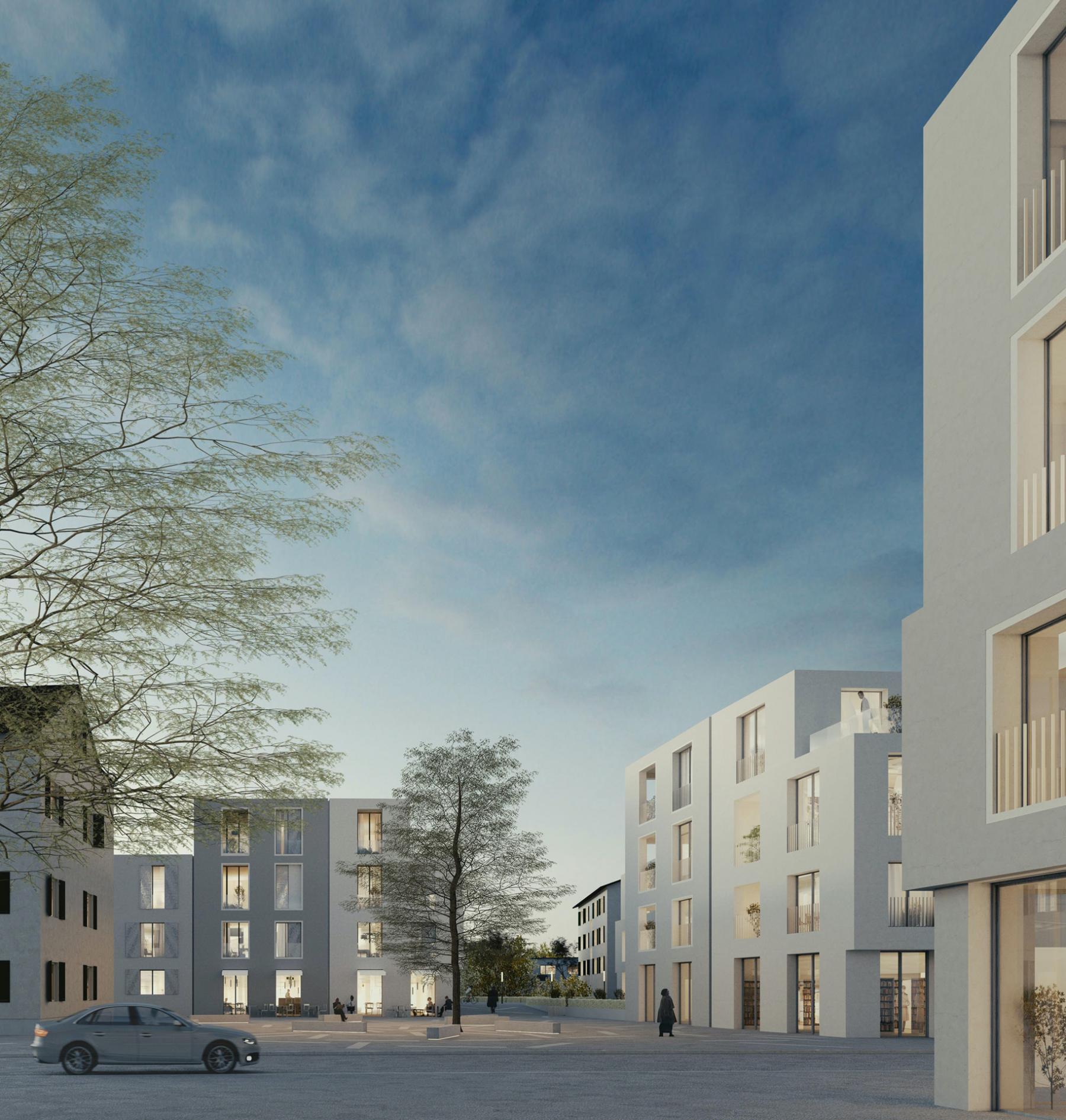 Dorfkernentwicklung Altenrhein, Gemeinde Thal - Sonnenareal, Baumschlager Eberle, DICHTER
