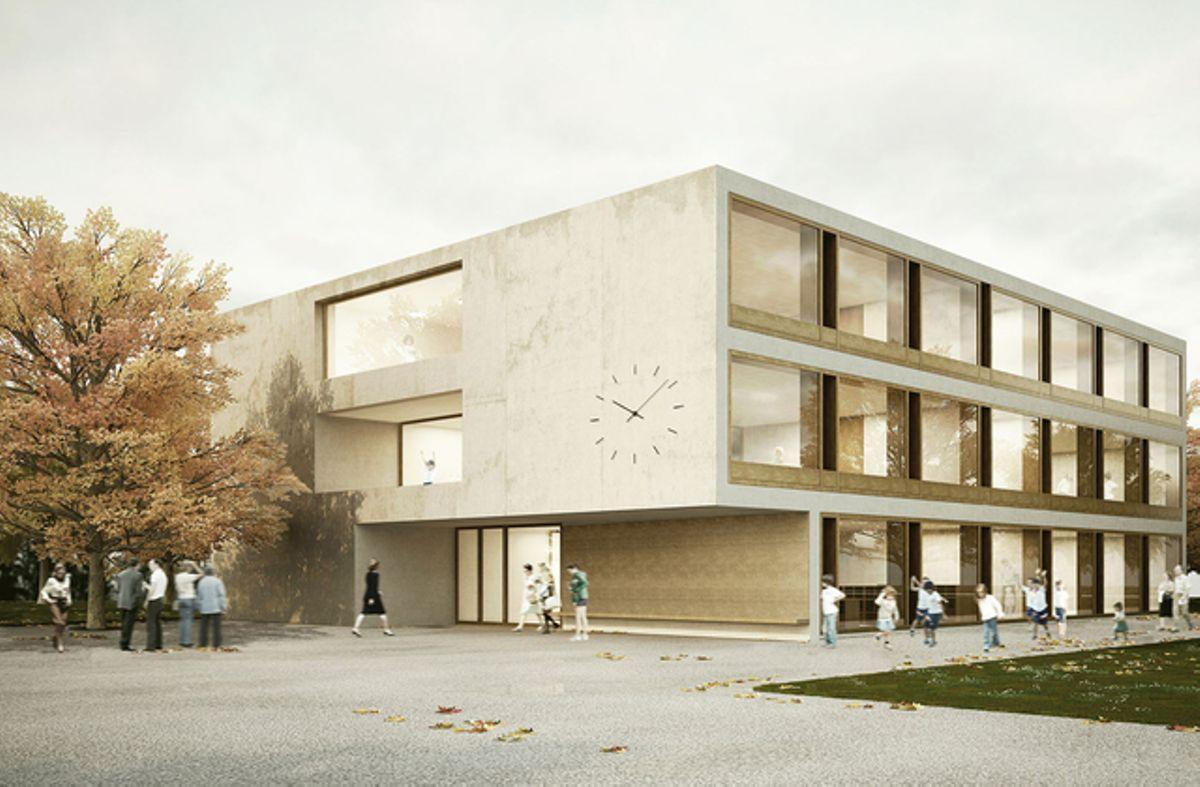 Erweiterung Campus Sonnhalde Aarwangen 1. Rang View-Turn Brandenberger Kloter Architektenpartner