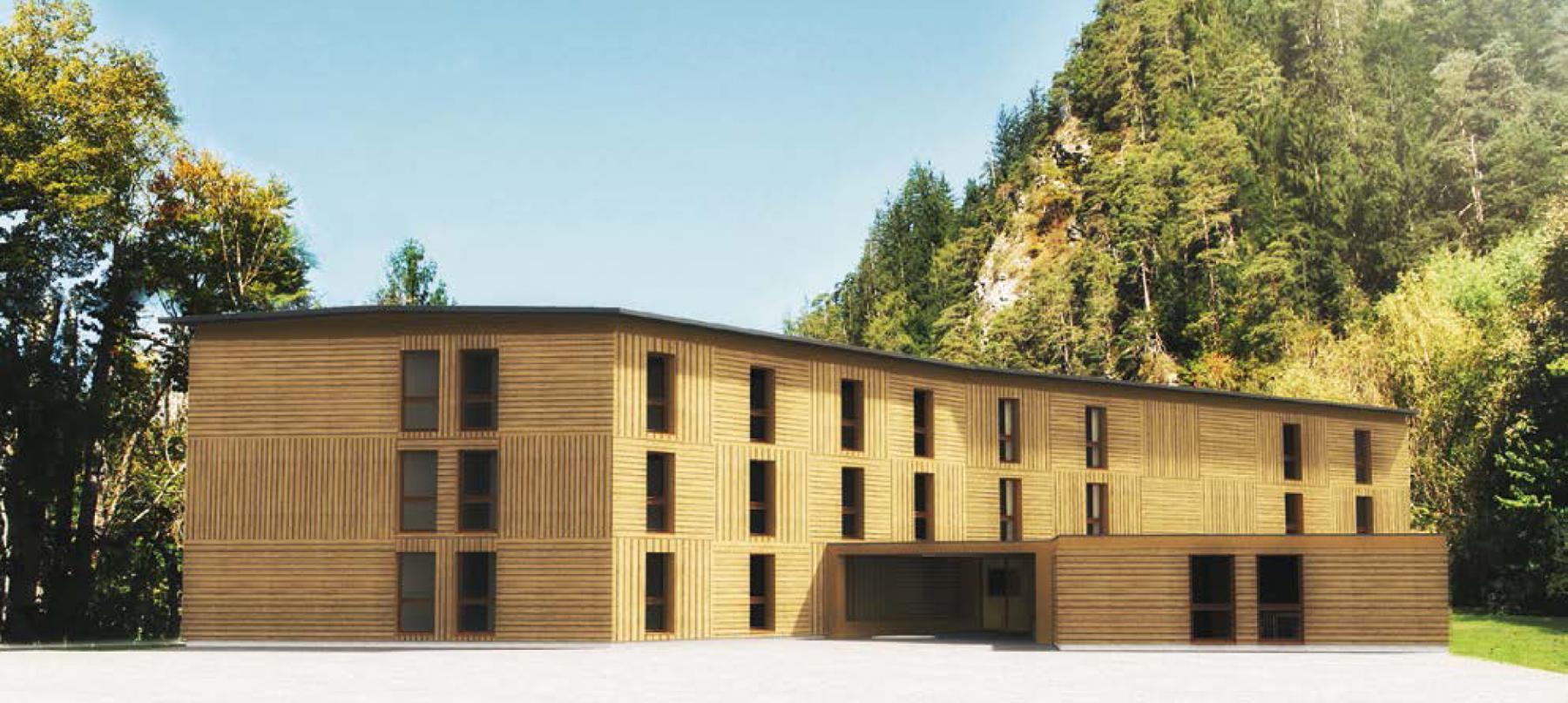 Neubau Erstaufnahmezentrum für Asylsuchende Churwalden