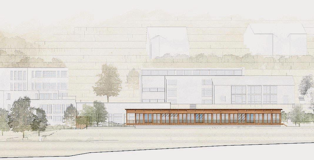 Neubau Kindergarten Wildenstein mit Aussenraum