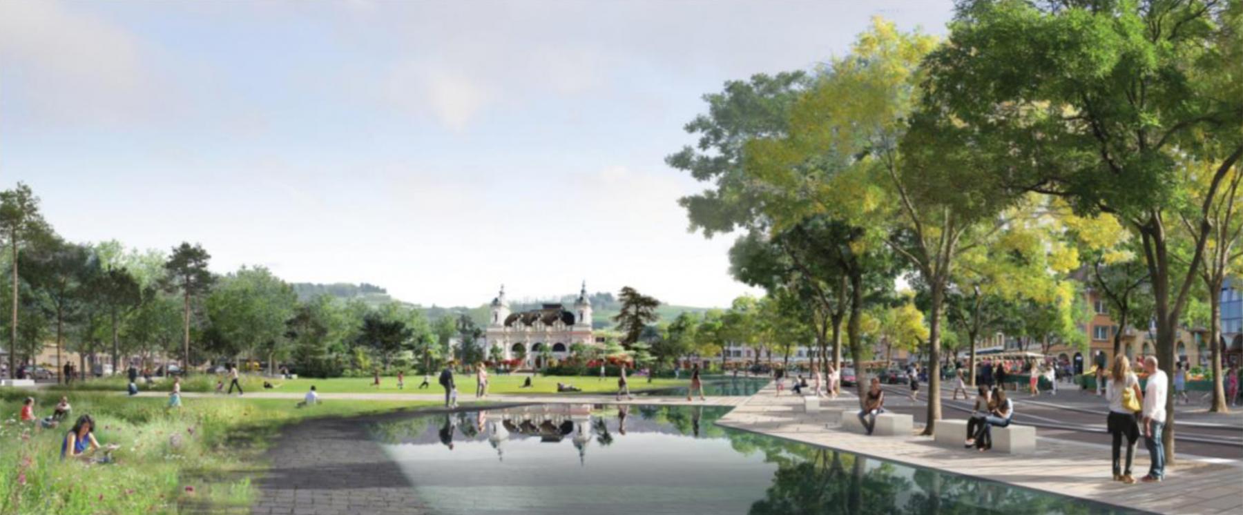 Place d'Armes, Yverdon-les-Bains - Projet de réaménagement urbain et paysager